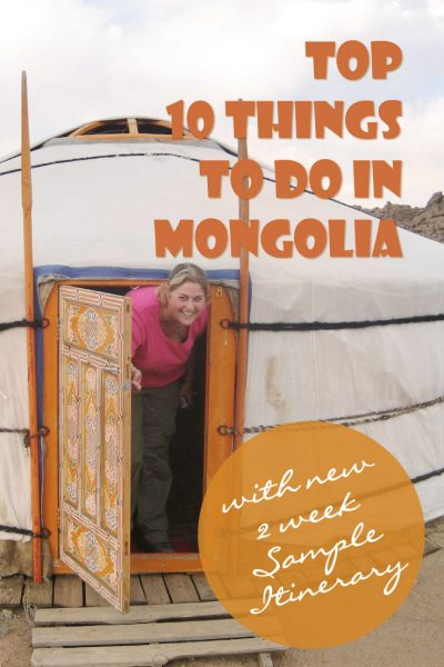 Download my suggested travel itinerary for 2 weeks in Mongolia with things to do and see.