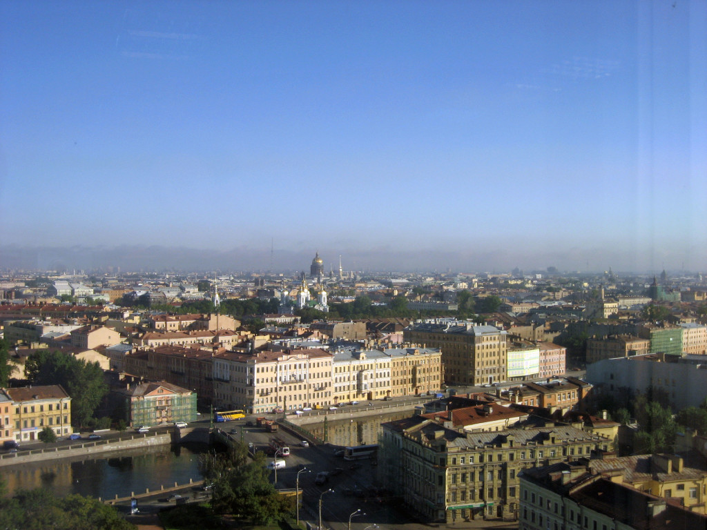What to do in St. Petersburg in 1 day? Enjoy the aerial views on the city of St. Petersburg