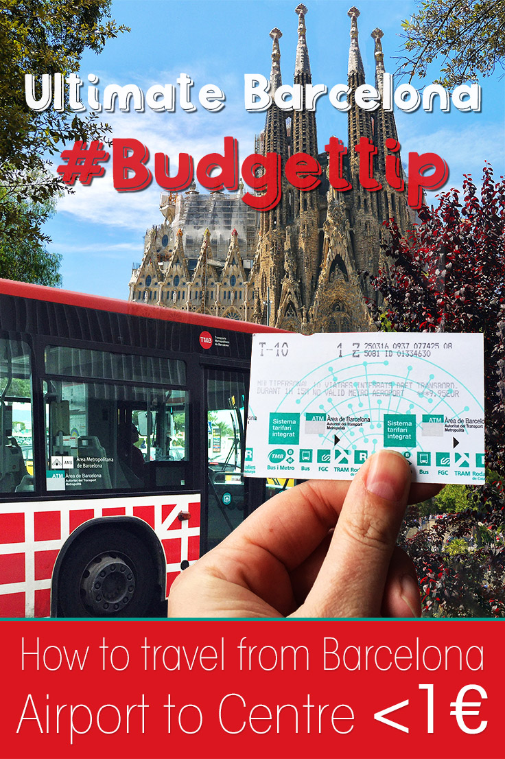 My Ultimate Barcelona Budget Travel Tip: How to travel from Barcelona Airport to the City Centre for under 1 euro? Check my post and learn how to do it.