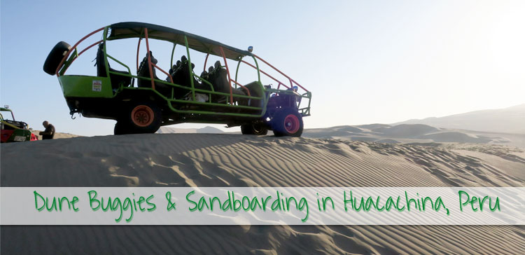 Riding a dune buddy and sandboarding in Huacachina Peru was the most exciting thing I did in Peru. Visit the oasis & book a sandboarding tour in Huacachina Peru. I'll tell you about my experiences, give you an useful packing list and share some thoughts about the sustainability of sandboarding in Huacachina.