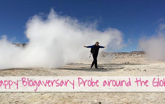 1 year blogiversaryfor my travel blog Probe around the Globe