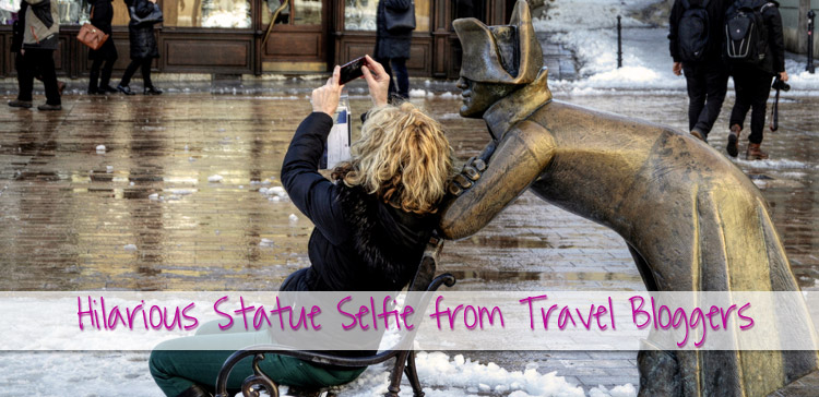 Some statues are very funny. What's funnier than a statue selfie? I present you 8 hilarious statue pictures from around the world from travel bloggers.