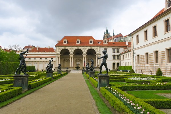 The Parliament gardens in Prague during my visit at Prague Easter Markets