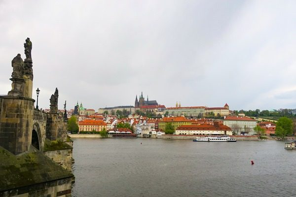 View on Prague's castle during my visit at Prague Easter Markets