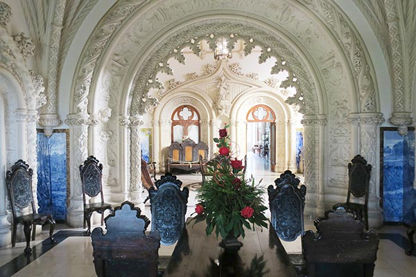 Bussaco Forest Portugal - the interior of the Buçaco Palace hotel