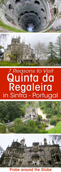 The Quinta da Regaleira in Sintra Portugal is a mythical palace with Gothic features, underground grottoes and overgrown park. The Initiation Well is world famous and a must see. I give you 7 good other reasons to visit Quinta da Regaleira Palace in #Sintra #Portugal